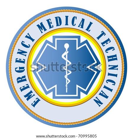 EMT emergency medical technician swatch - stock photo