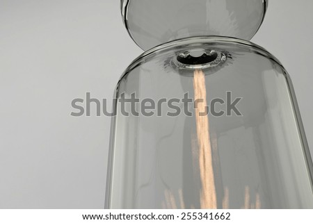 End of time period in hourglass watch - stock photo