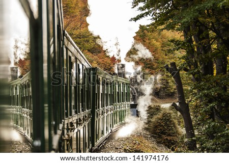End of World Train (Tren fin del Mundo), Tierra del Fuego, Patagonia, Argentina - stock photo