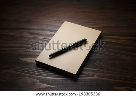 Ending diary notes - stock photo