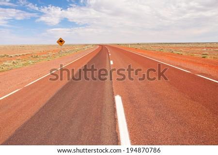 Endless Australian Roads - stock photo