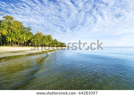 Endless Bachok beach - stock photo