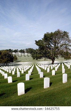 Endless Headstones, United States National Cemetery