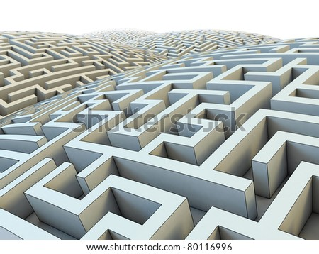 endless labyrinth - stock photo