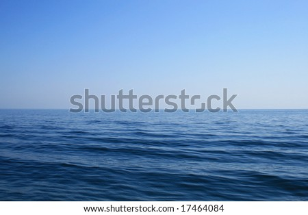 Endless sea and endless blue sky - stock photo