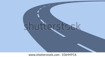 Endless Street - stock photo