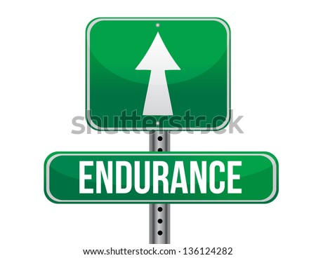 endurance road sign illustration design over a white background