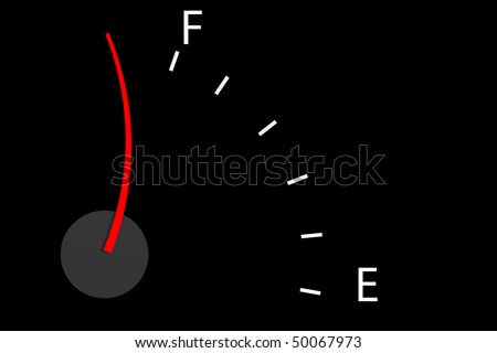 Energetic, ready to go concept or lower gas prices more efficient - stock photo