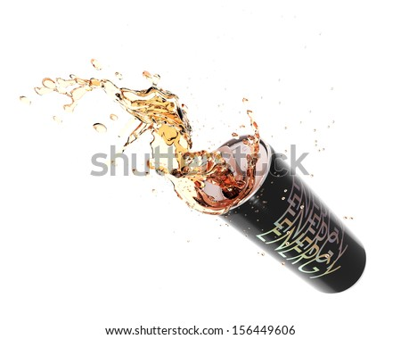 Energy drink splashing  - stock photo