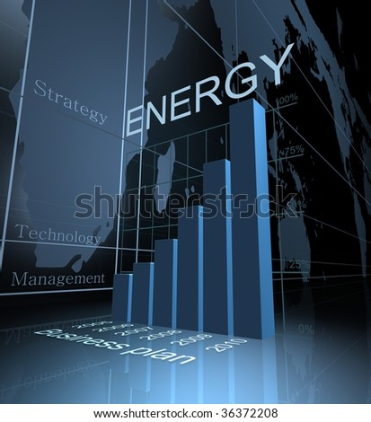 energy graph - stock photo