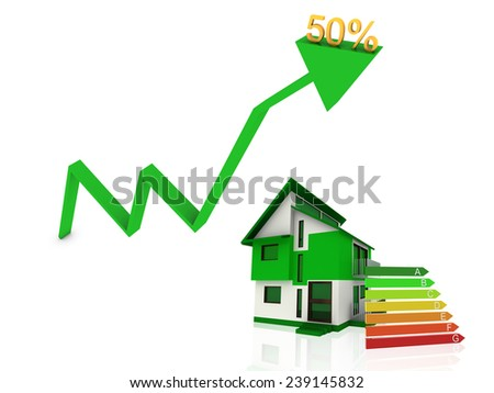 energy house  - stock photo