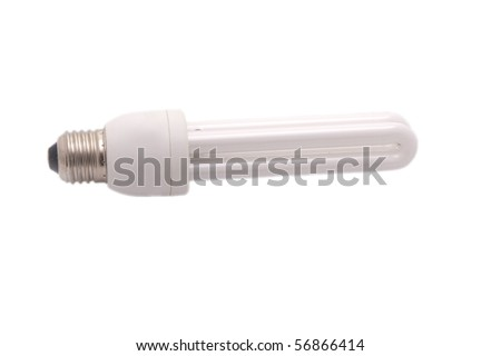 Energy saving bulb isolated on white background - stock photo