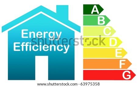 energy saving class - stock photo