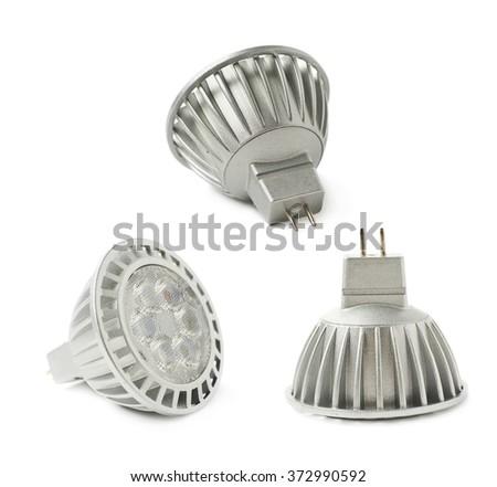 Energy saving led bulb isoalted - stock photo