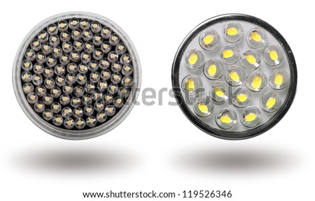Energy-saving LED bulb. Isolated on a white field. - stock photo