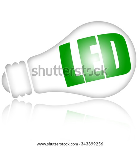 Energy saving led lamp - stock photo