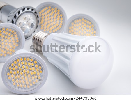 Energy saving LED light bulb - stock photo