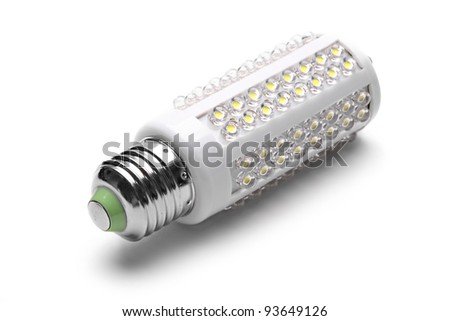 energy saving LED light bulb - stock photo