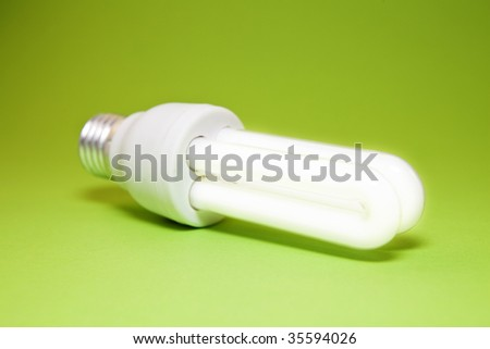 Energy-Saving Light Bulb - stock photo