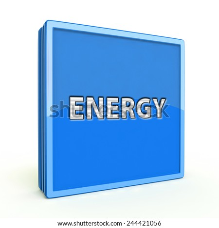 Energy square icon on white background
