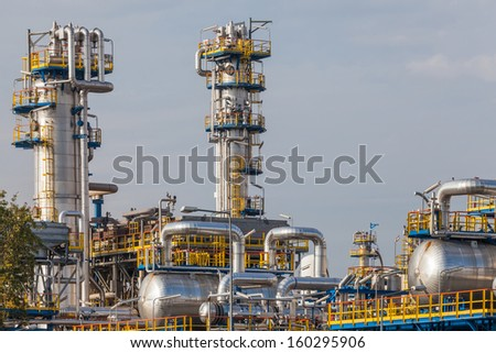 Energy - view of the refinery. - stock photo