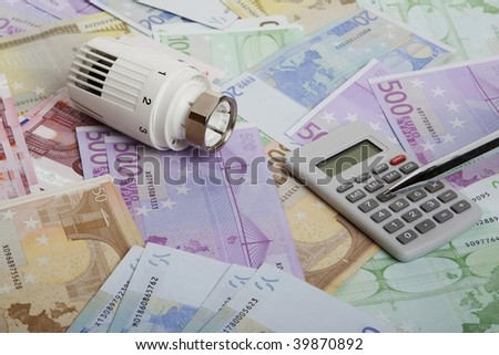 Energy waste - stock photo