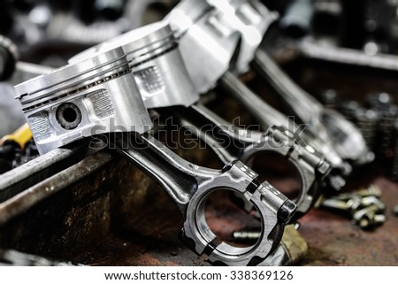 engine machine piston - stock photo