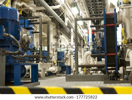 Engine Room Background photo - stock photo