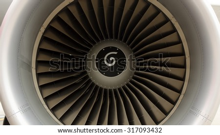 Engine turbine airplane background