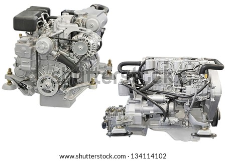 engine under the white background