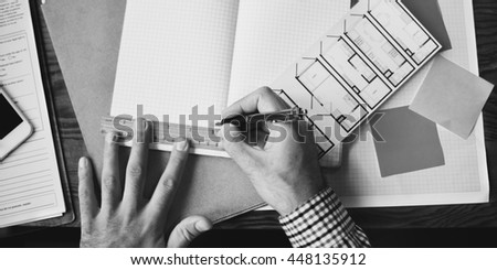 Engineer Architecture Design Blueprint Planning Concept