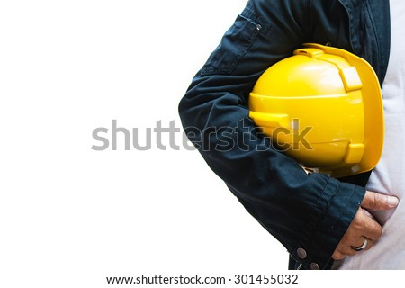 engineer contractor isolated background