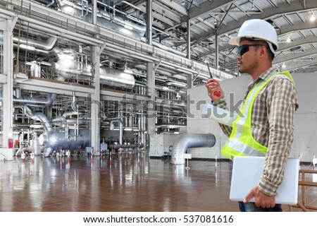 engineer control working a boiler equipments and machinery in a modern thermal power plant industry - Power Plant Engineer