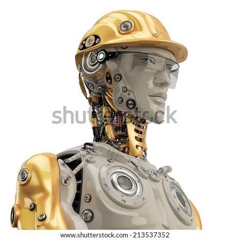 Engineer /  Engineer in yellow hardhat portrait  - stock photo