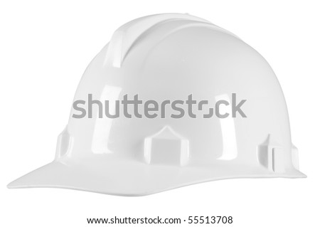 Engineer helmet. Isolated - stock photo