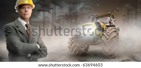 Engineer in a construction site