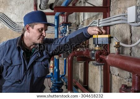 engineer plumber - stock photo