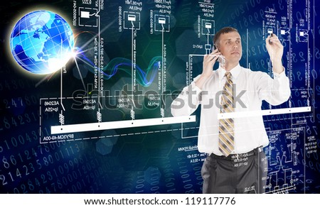 Engineering designing - stock photo