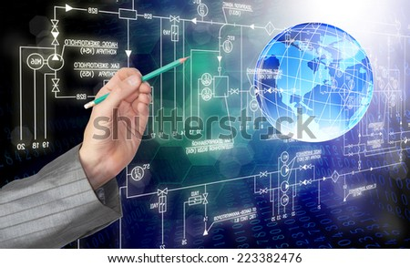 Engineering designing concept - stock photo