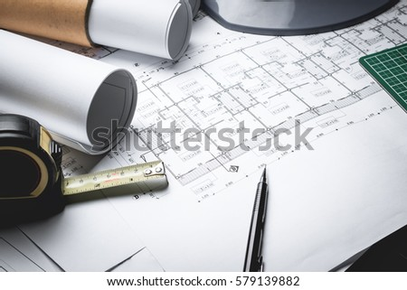 Engineering diagram blueprint paper drafting project imagen de engineering diagram blueprint paper drafting project sketch architecturalselective focus malvernweather Image collections