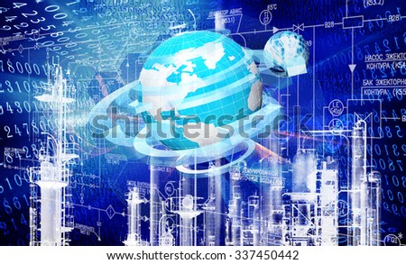 Engineering industrial technology - stock photo