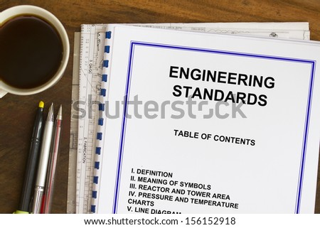 Engineering standards sketch coffee blueprints stock photo download engineering standards sketch with coffee and blueprints malvernweather Images