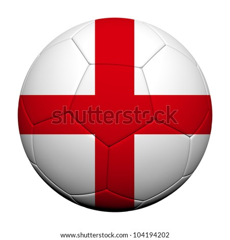 England Flag Pattern 3d rendering of a soccer ball - stock photo