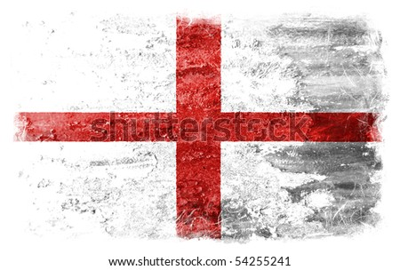 England grunge flag - stock photo