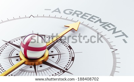 England High Resolution Agreement Concept - stock photo