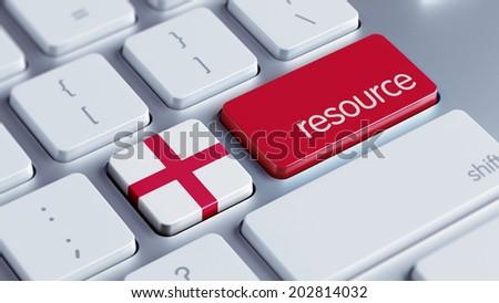 England High Resolution Resource Concept - stock photo