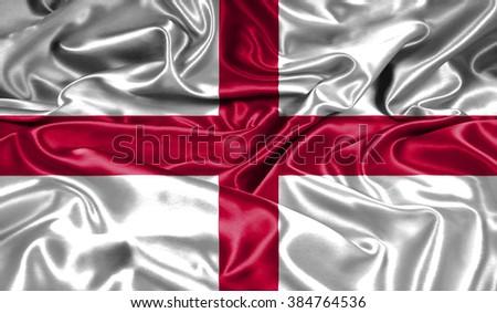 England silk flag - stock photo