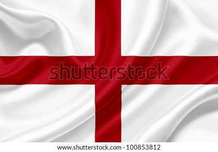 England waving flag - stock photo