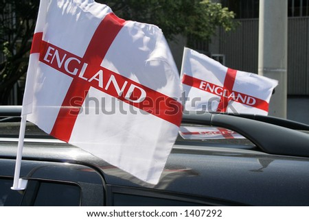 England World Cup flags - stock photo