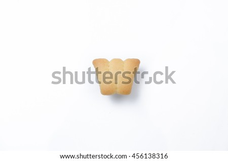 English alphabet made from bread. Letters of the British alphabet made of gingerbread. The letter W - stock photo